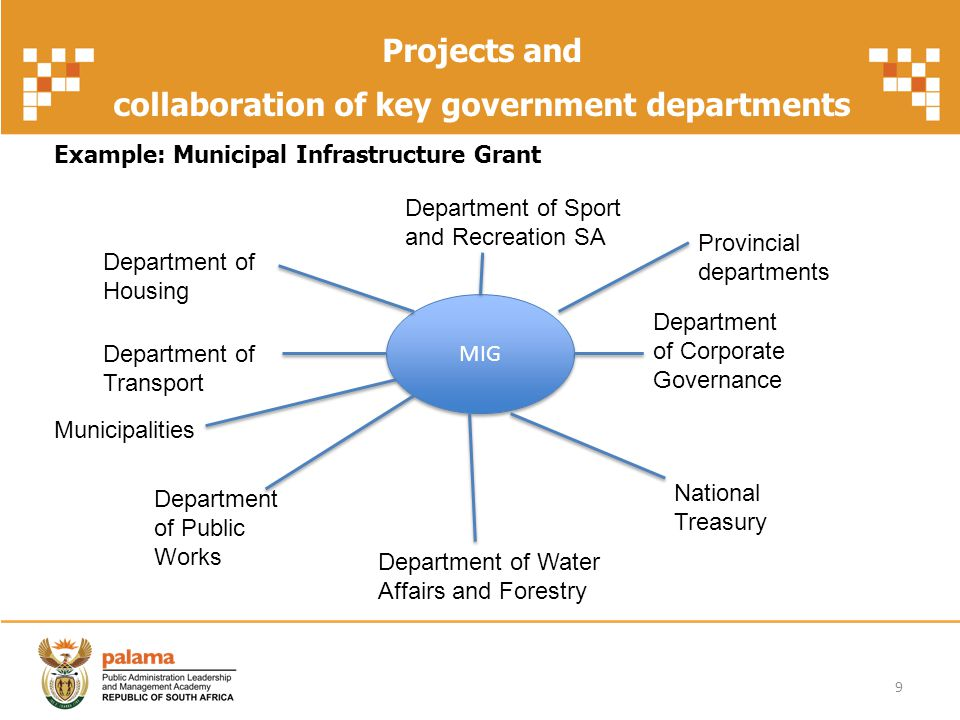 collaboration of key government departments