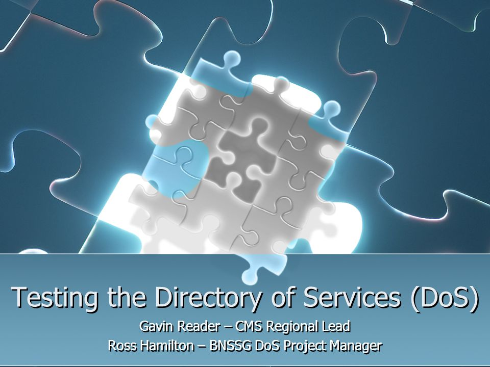 Testing the Directory of Services (DoS)