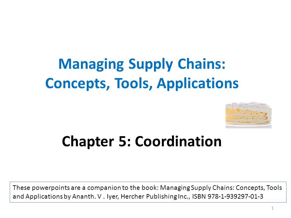 Managing Supply Chains: Concepts, Tools, Applications Chapter 5: Coordination