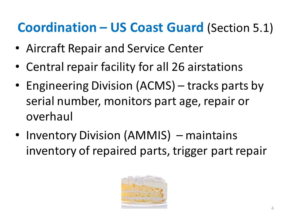 Coordination – US Coast Guard (Section 5.1)