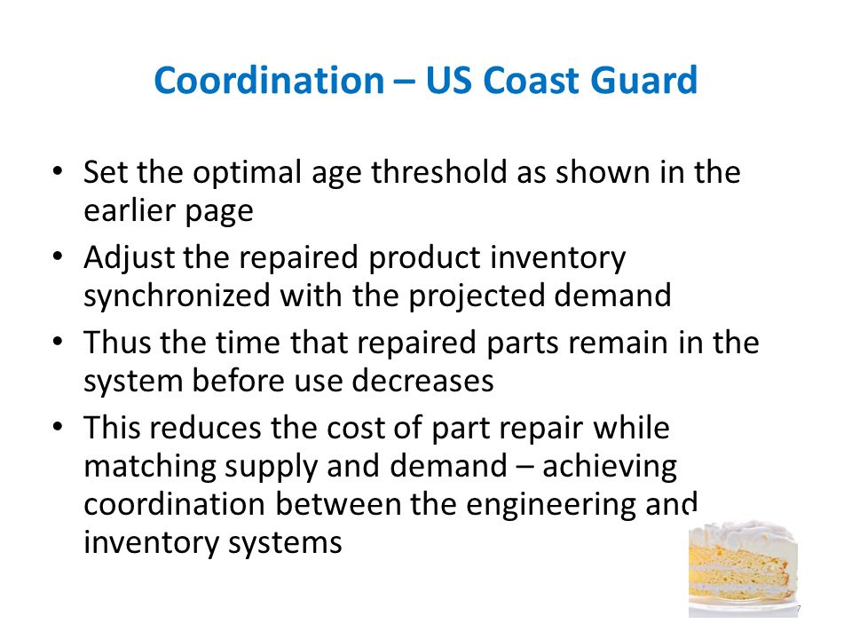 Coordination – US Coast Guard