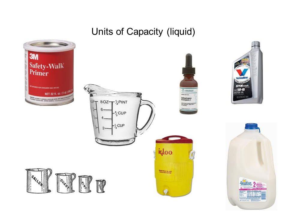 Units of Capacity (liquid)