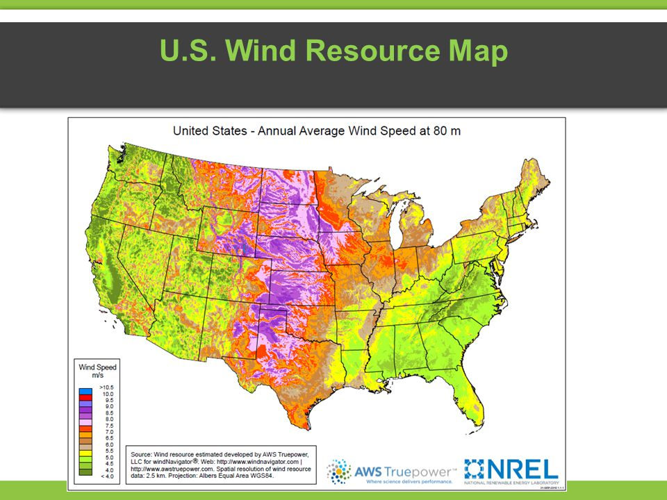 Exploring Wind Energy Ppt Video Online Download - Us wind speed map