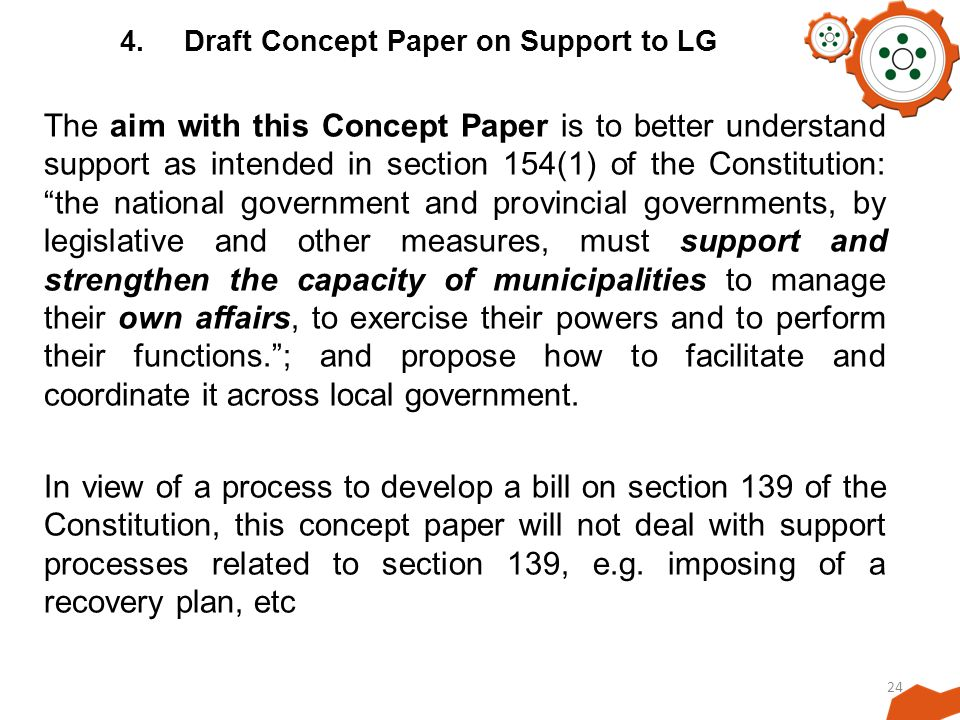 4. Draft Concept Paper on Support to LG