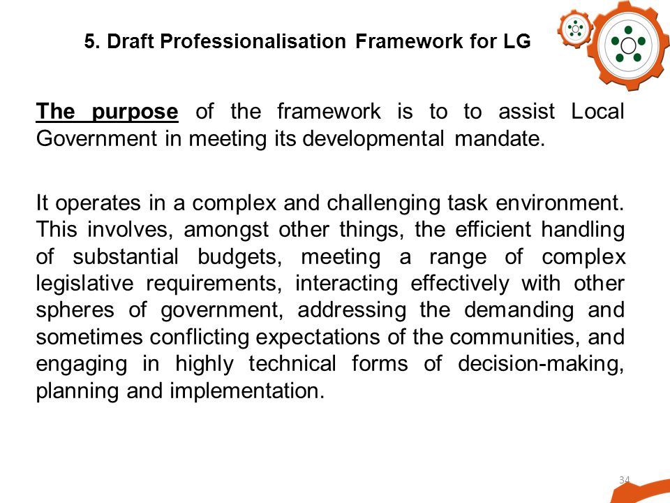 5. Draft Professionalisation Framework for LG