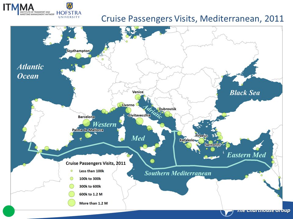 Selected Cruise Itineraries, Mediterranean