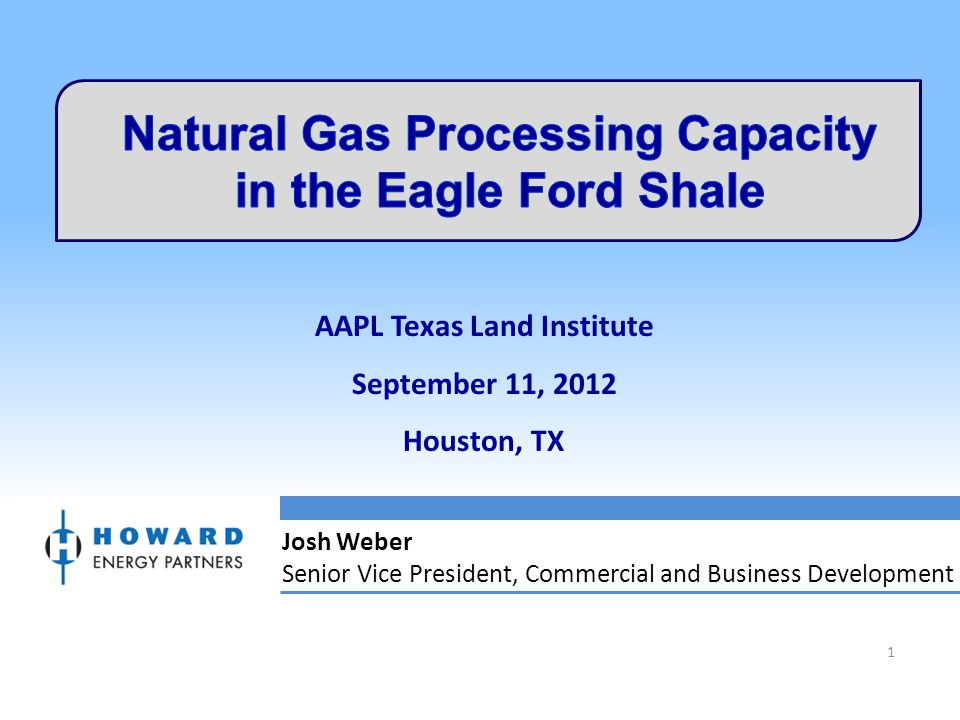 Natural Gas Processing Capacity in the Eagle Ford Shale