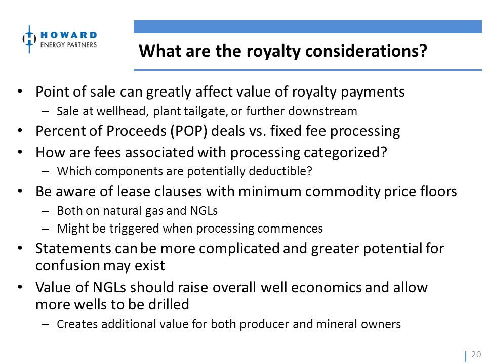 What are the royalty considerations