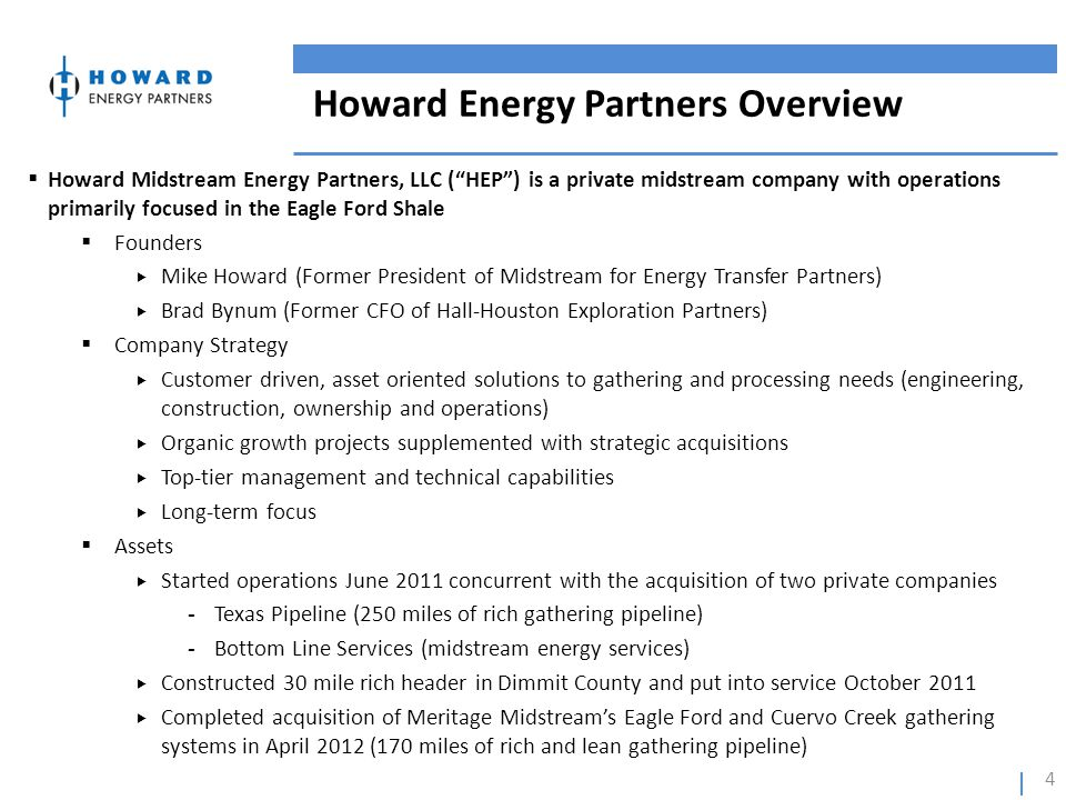 Howard Energy Partners Overview