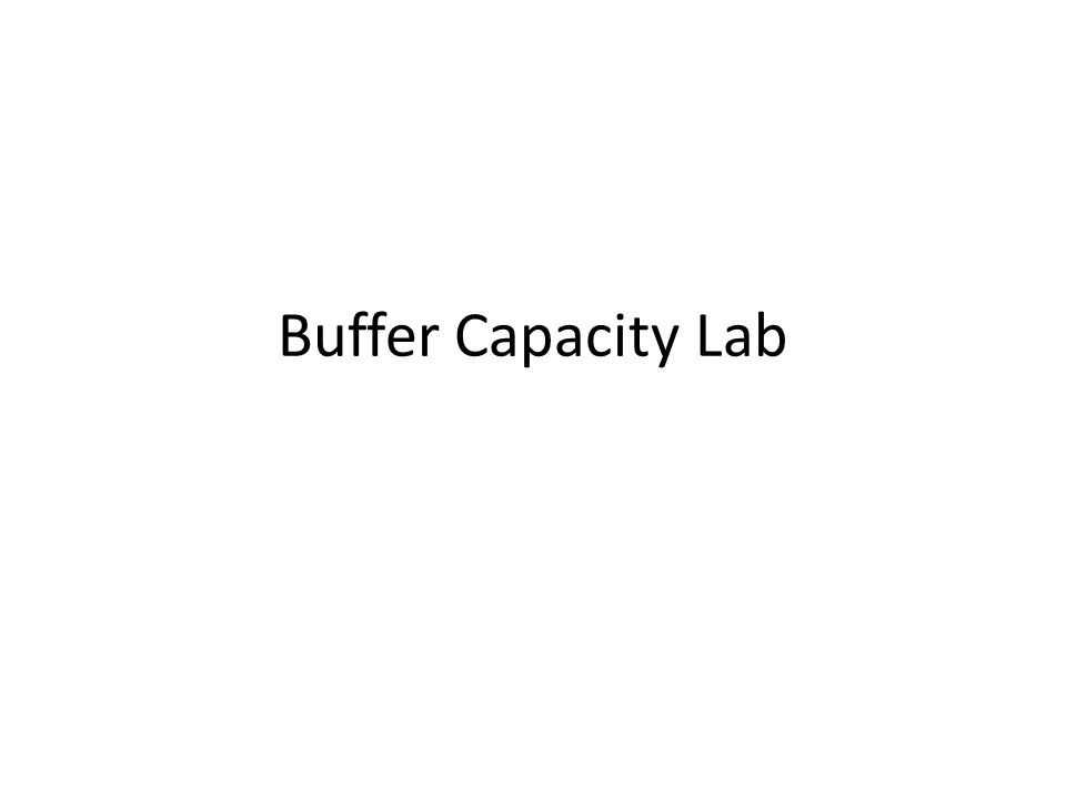Buffer Capacity Lab