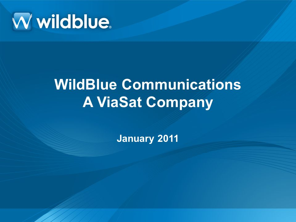 WildBlue Communications A ViaSat Company