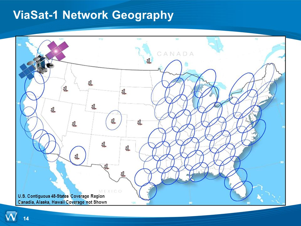 ViaSat-1 Network Geography