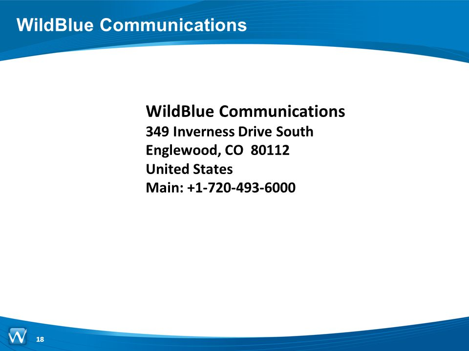 WildBlue Communications