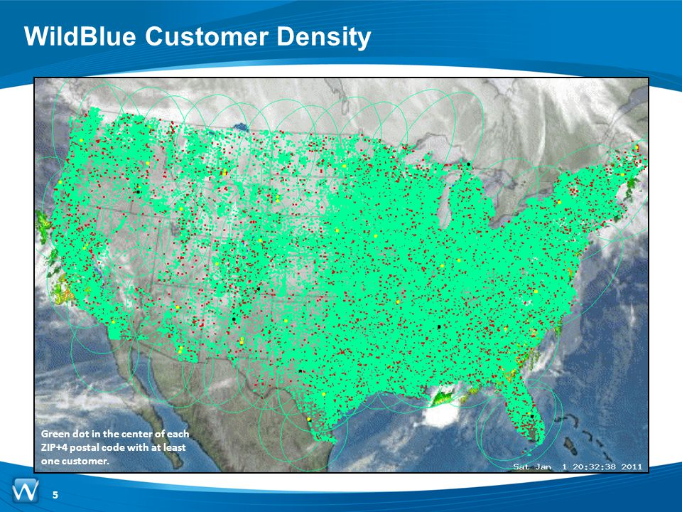WildBlue Customer Density