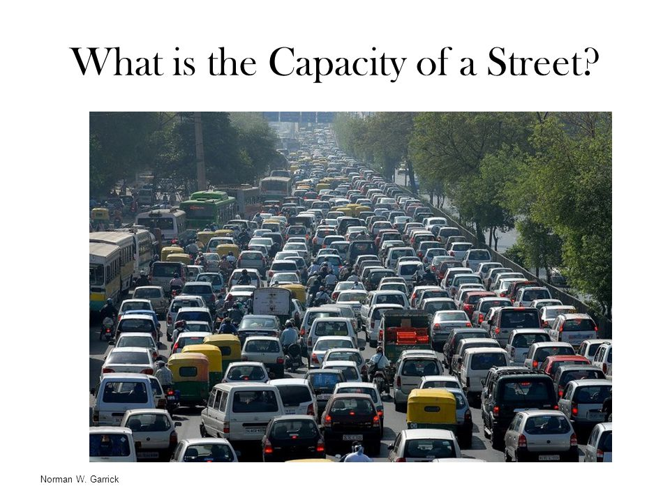 What is the Capacity of a Street