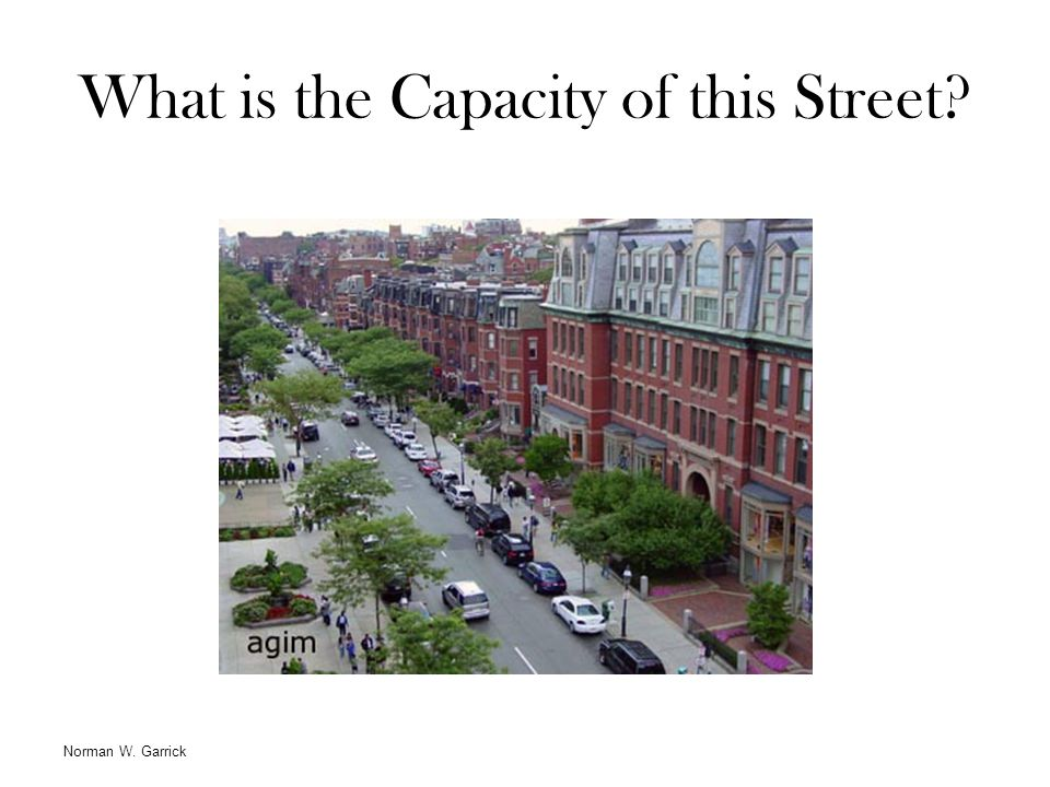 What is the Capacity of this Street