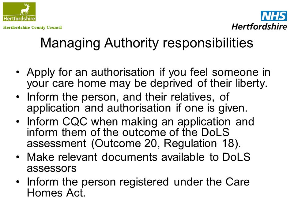Managing Authority responsibilities