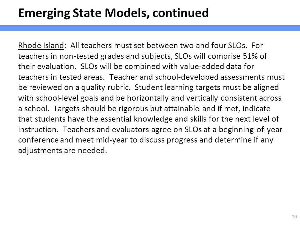 Emerging State Models, continued