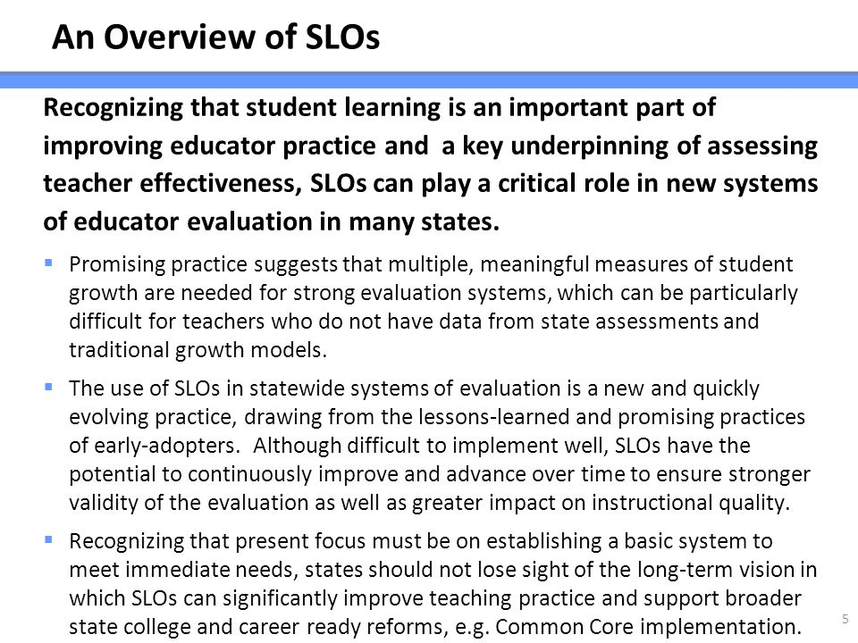 An Overview of SLOs