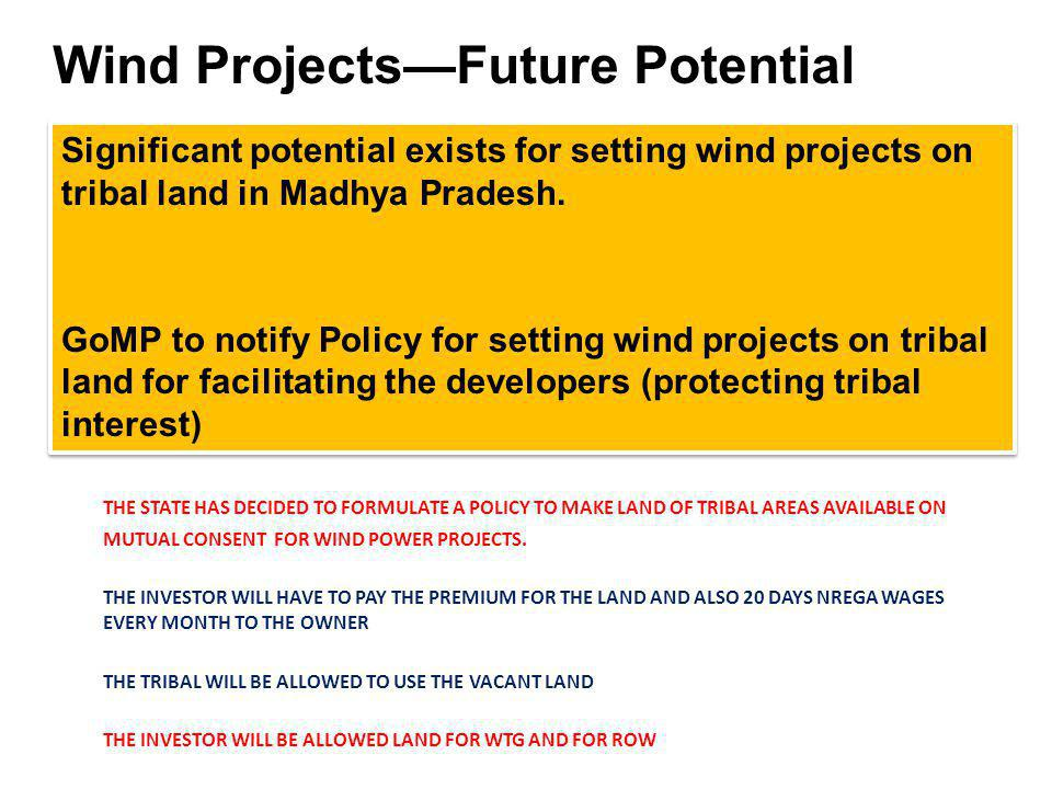 Wind Projects—Future Potential