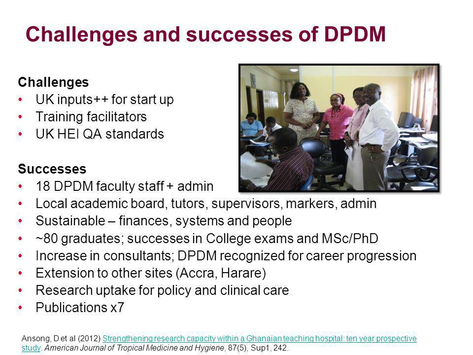 Challenges and successes of DPDM