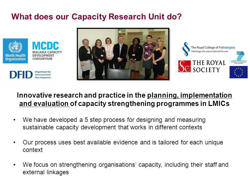What does our Capacity Research Unit do