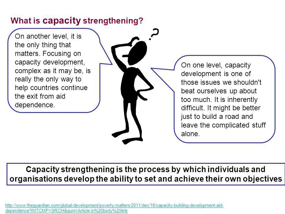 What is capacity strengthening