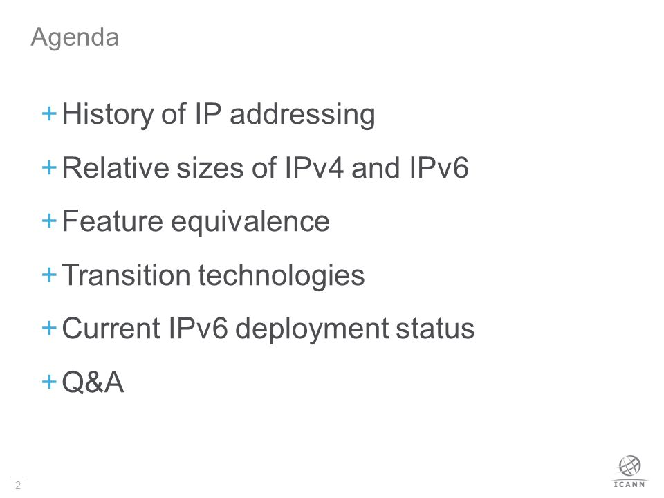 History of IP addressing Relative sizes of IPv4 and IPv6