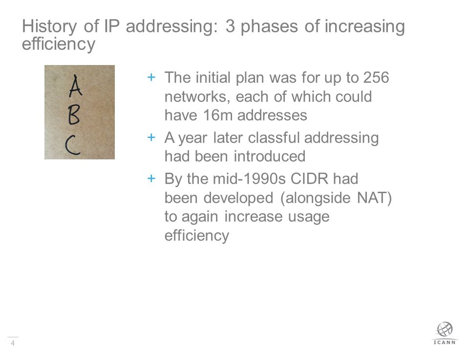 History of IP addressing: 3 phases of increasing efficiency