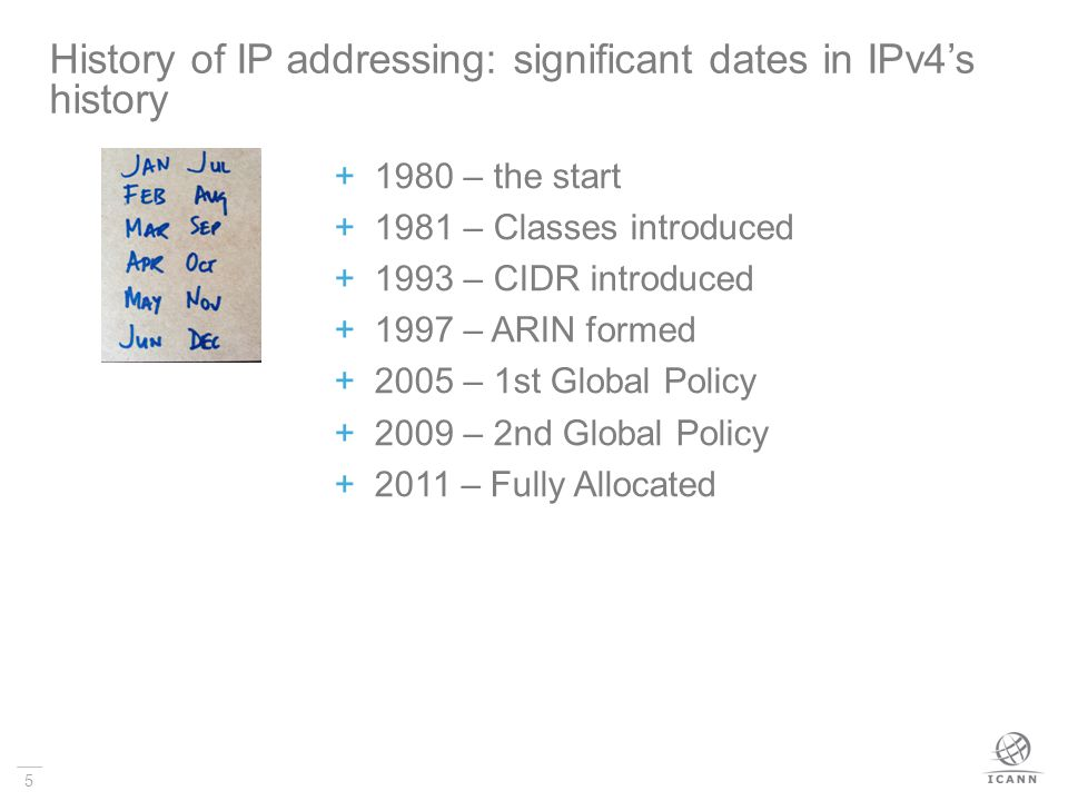 History of IP addressing: significant dates in IPv4's history