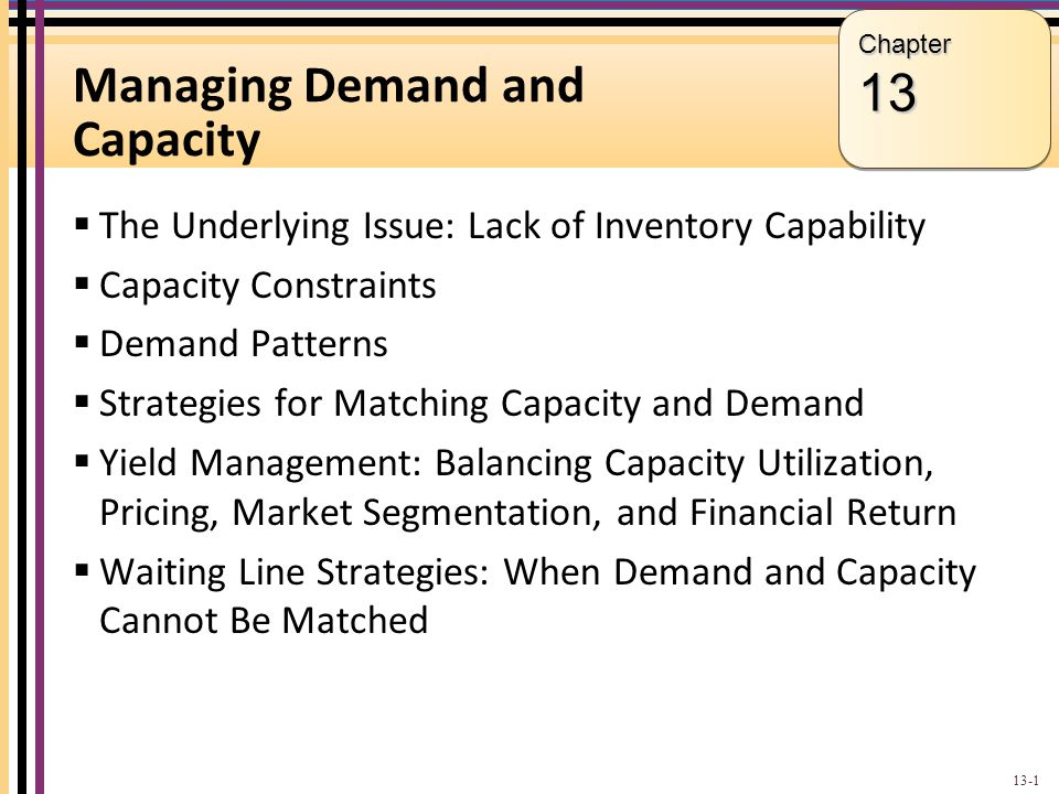 Managing Demand and Capacity