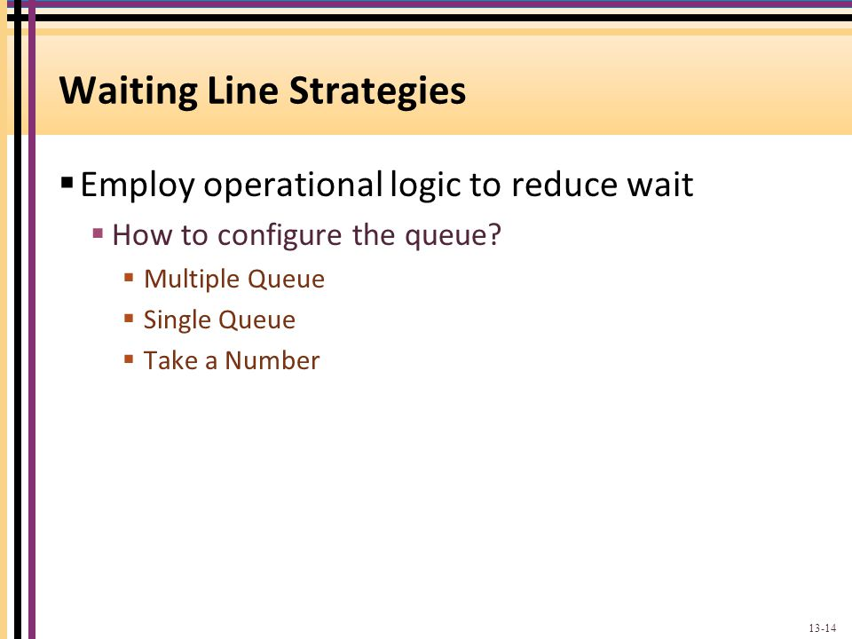 Waiting Line Strategies