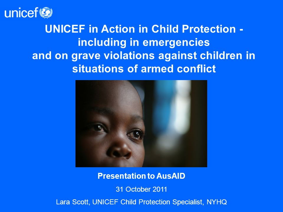 UNICEF in Action in Child Protection - including in emergencies