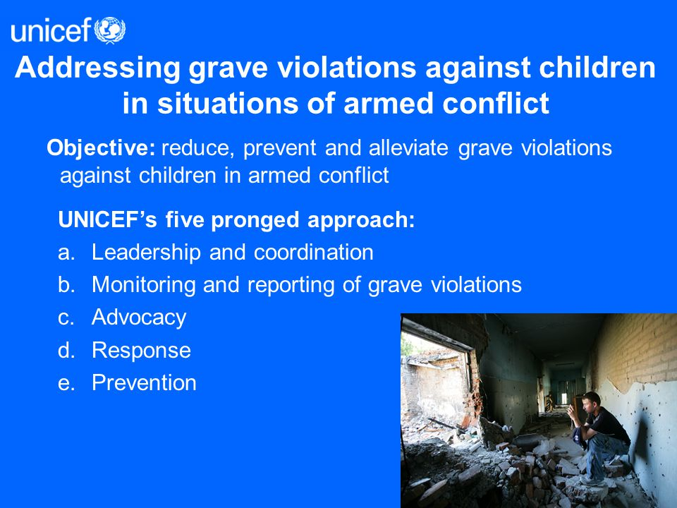 Addressing grave violations against children in situations of armed conflict