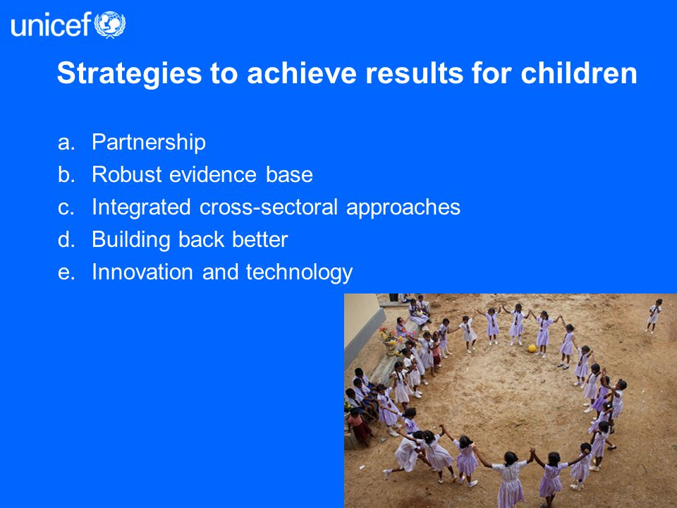 Strategies to achieve results for children
