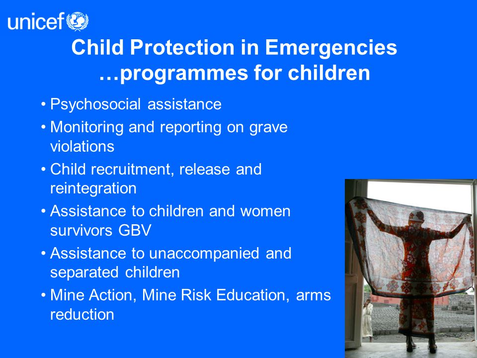 Child Protection in Emergencies …programmes for children