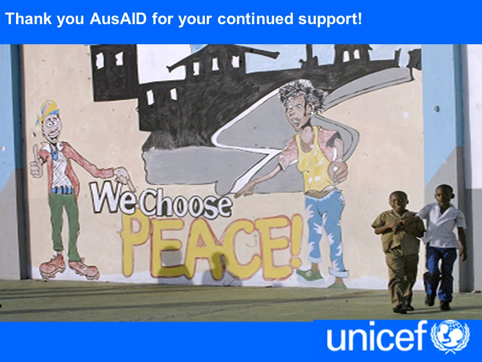 Thank you AusAID for your continued support!