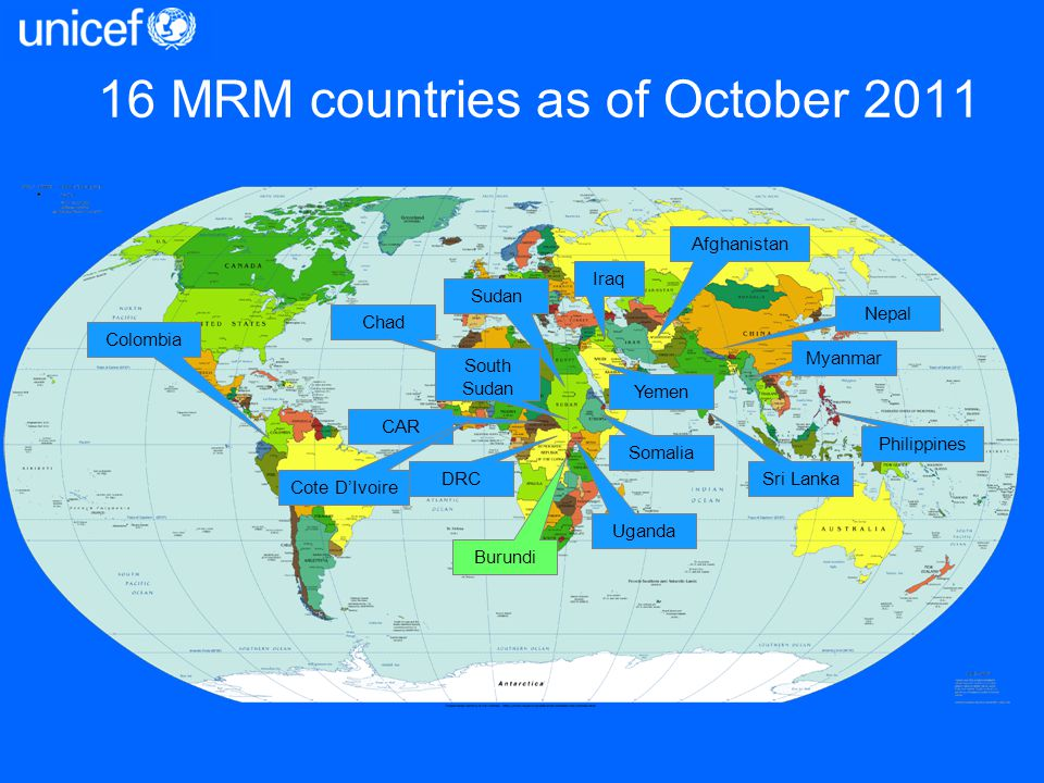 16 MRM countries as of October 2011