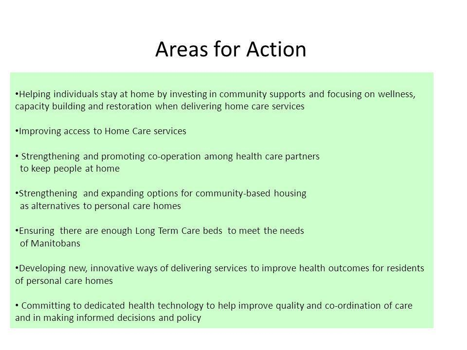 Areas for Action