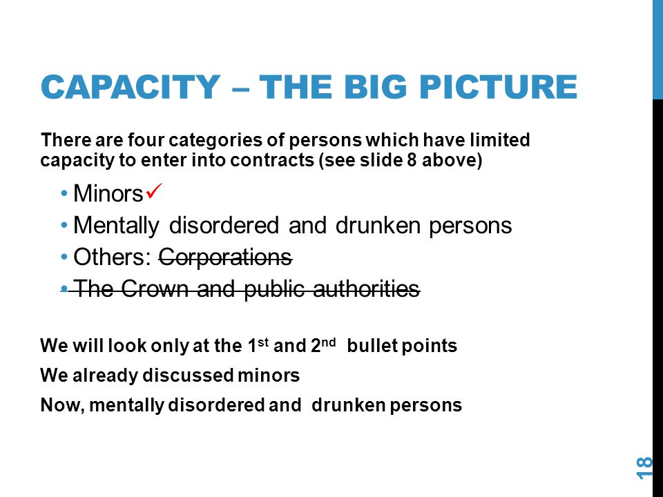 Capacity – the big picture