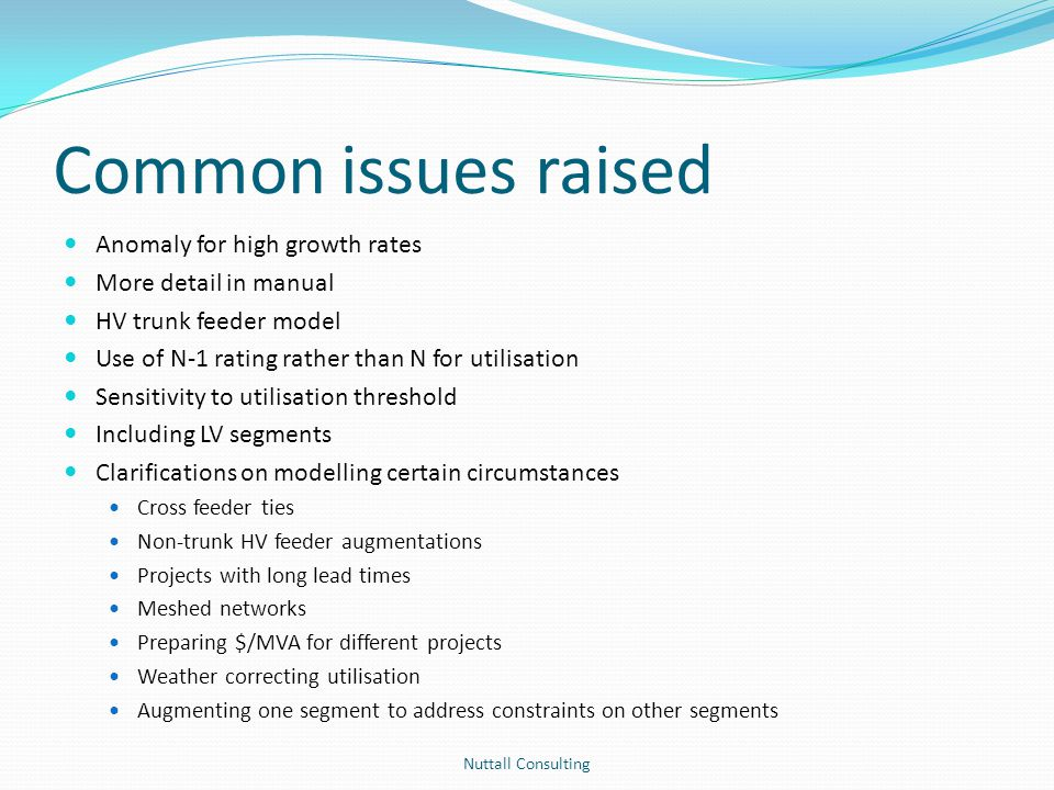 Common issues raised Anomaly for high growth rates