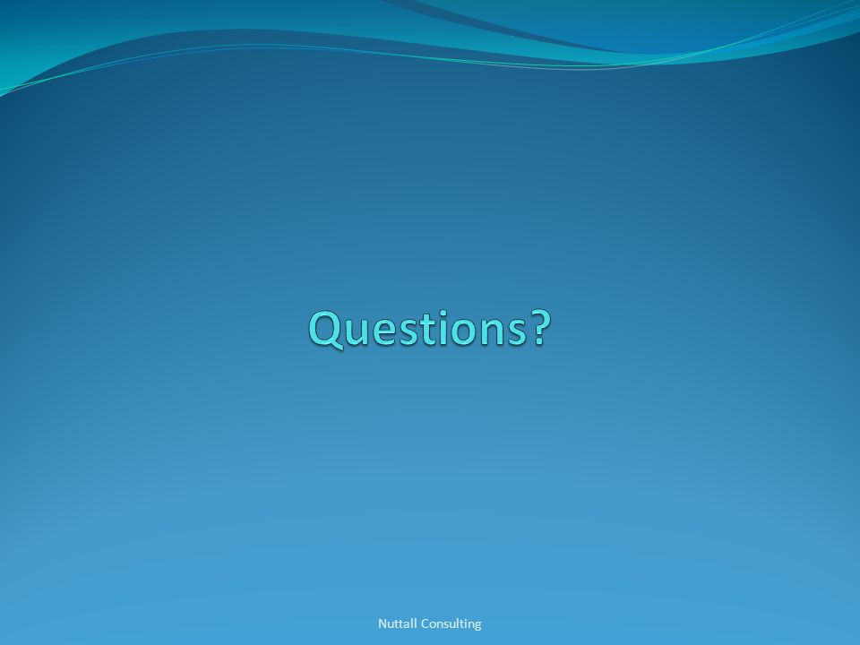 Questions Nuttall Consulting