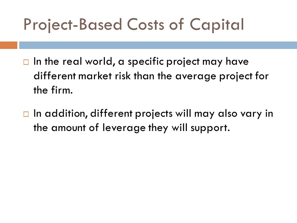 Project-Based Costs of Capital