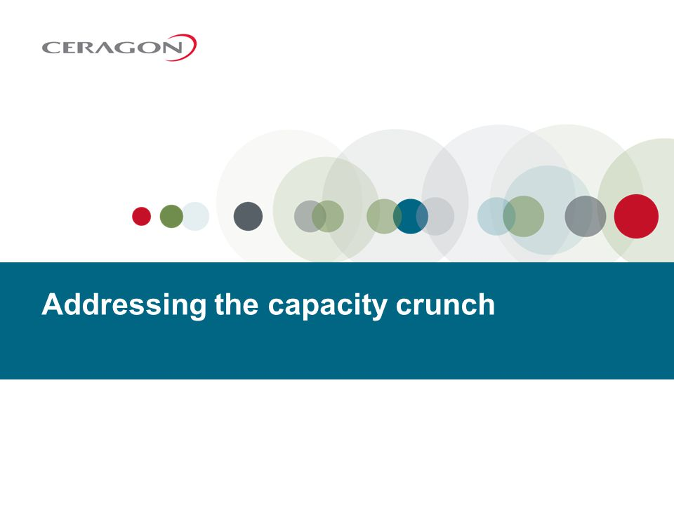 Addressing the capacity crunch