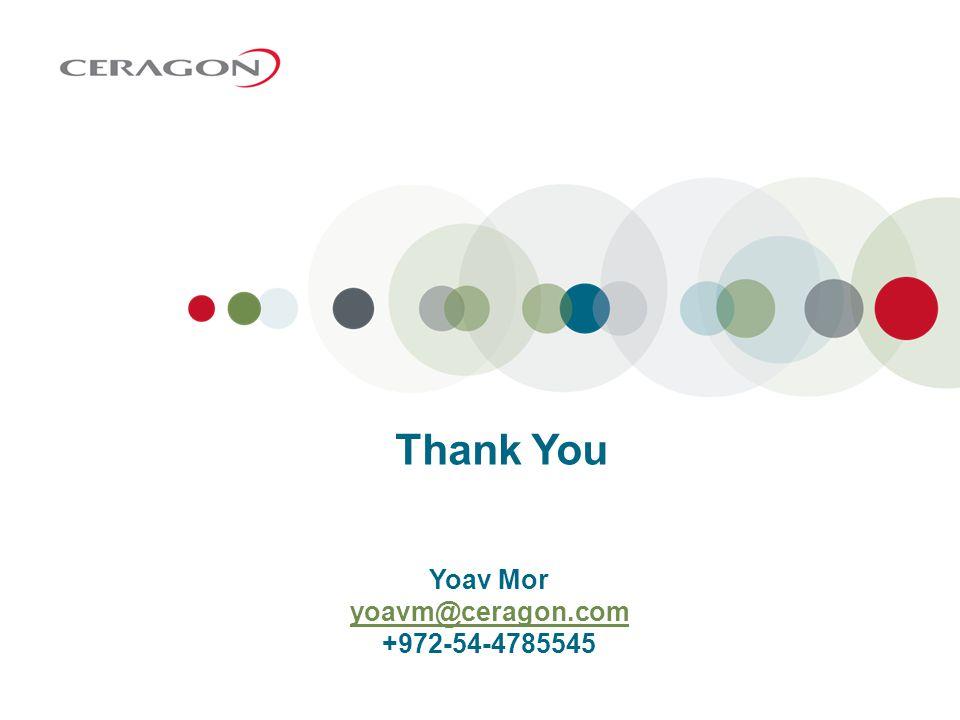 Yoav Mor yoavm@ceragon.com +972-54-4785545