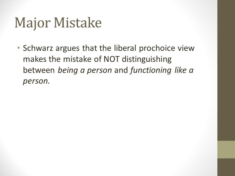 Major Mistake