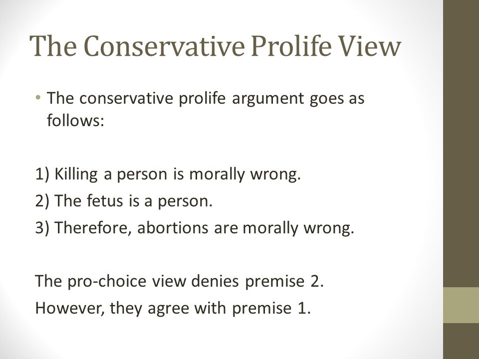 The Conservative Prolife View