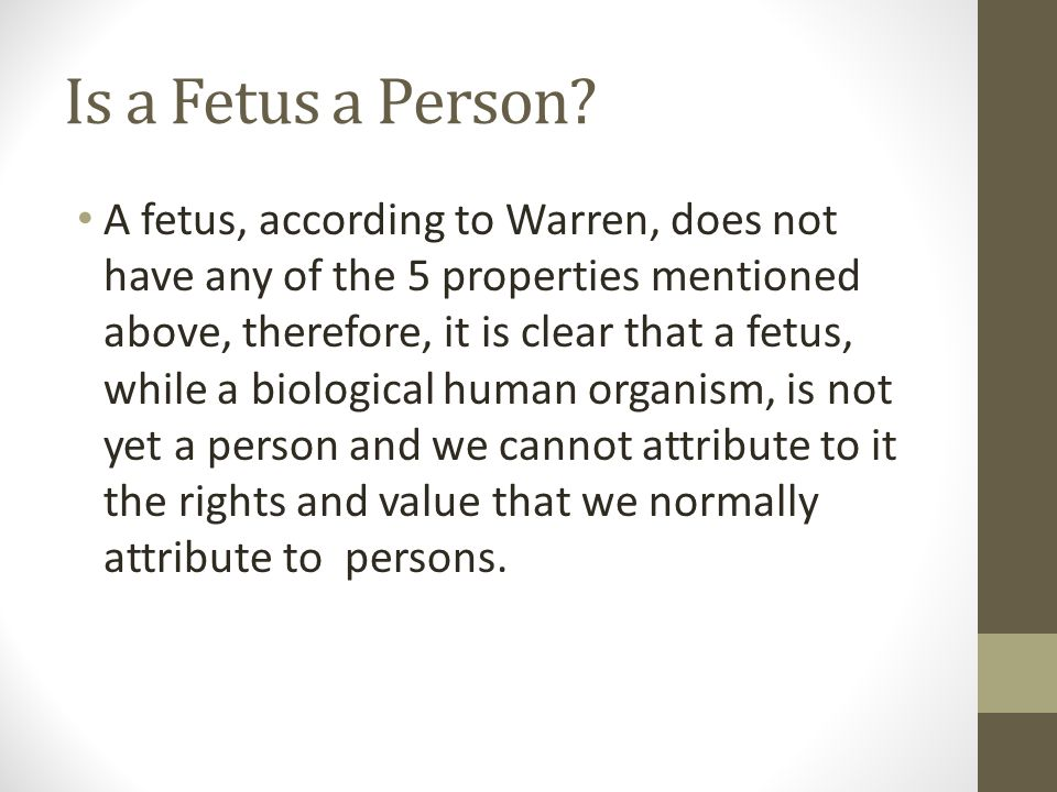 Is a Fetus a Person