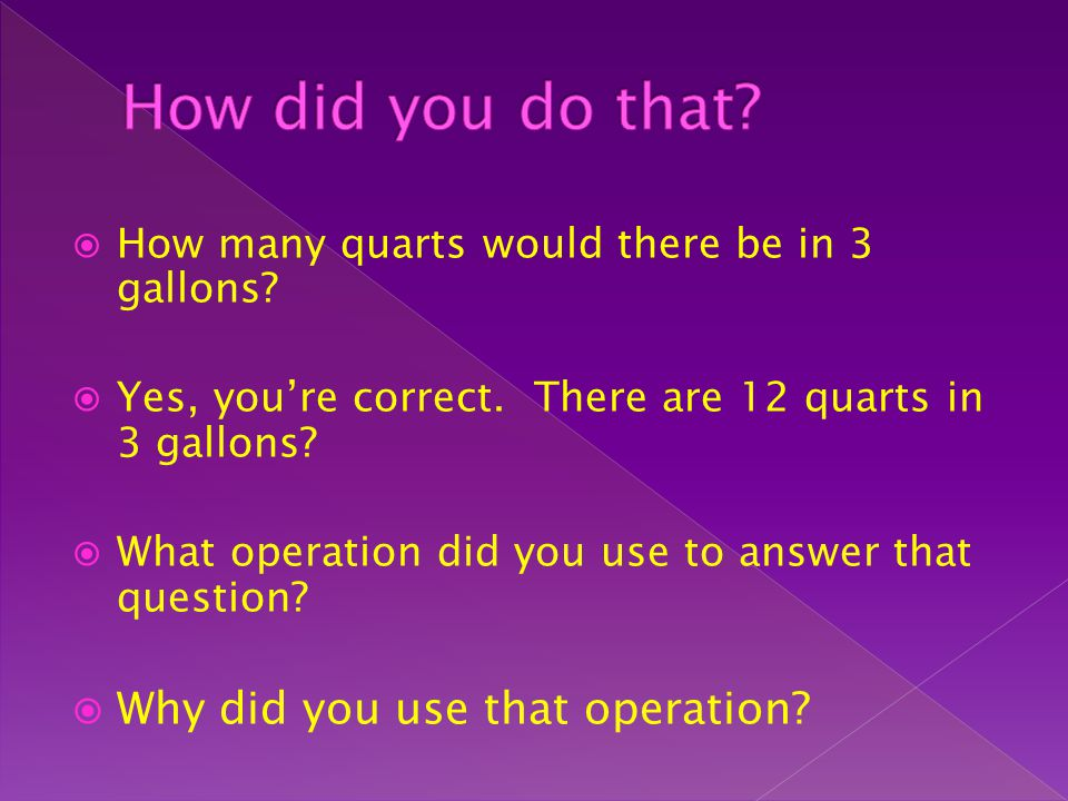 How did you do that Why did you use that operation