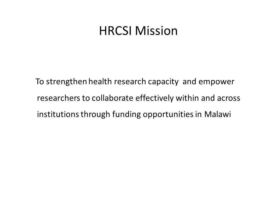 HRCSI Mission